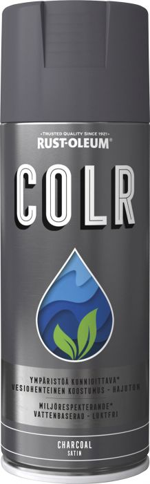 Spraymaali Rust-Oleum COLR 400 ml Satiini Charcoal