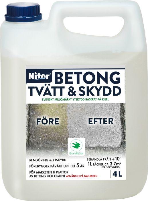Betonin puhdistus ja suoja Nitor 4 l