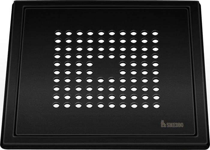 Lattiakaivonkansi Smedbo Outline neliö mattamusta FB502