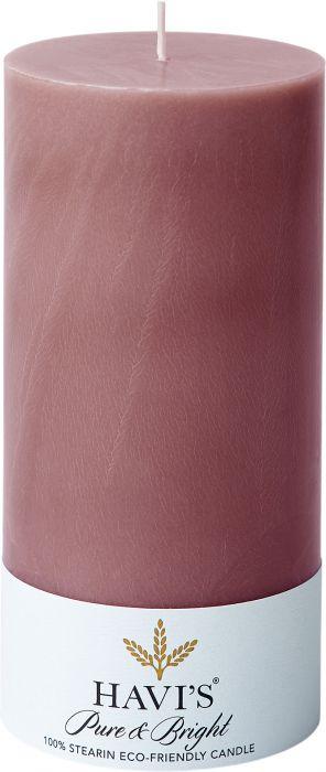 Pöytäkynttilä Havi's Pure&Bright 7 x 15 cm flamingo