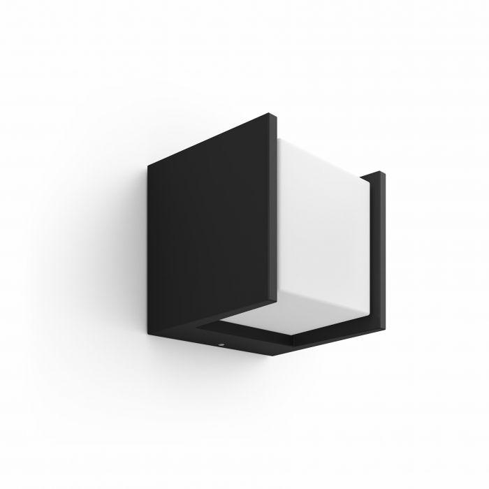 Ulkoseinävalaisin Philips Hue Fuzo Musta 13 cm