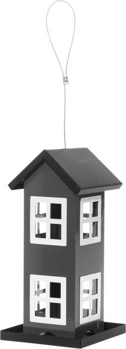 Jyväsyötin talo 12,5 x 12,5 x 27 cm musta