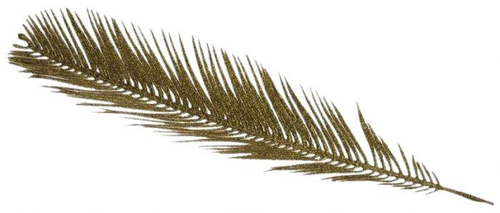 Palmunlehti 50 x 10 cm kulta
