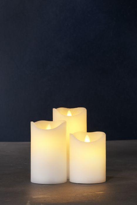 LED-kynttilä Sirius Sara Tripla 3 kpl vaalea