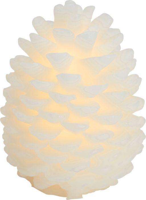 LED-kynttilä Sirius Clara käpy 14 cm valkoinen