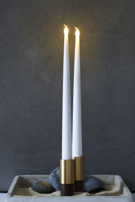 LED kruunukynttilä Sirius Carolin 2 kpl valkoinen