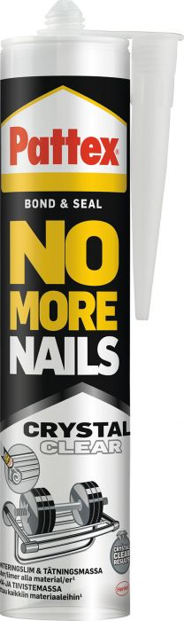 Liima- ja tiivistemassa Pattex No More Nails Crystal 280 ml