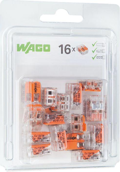 Rasialiitin Wago 221 2-napainen 16 kpl