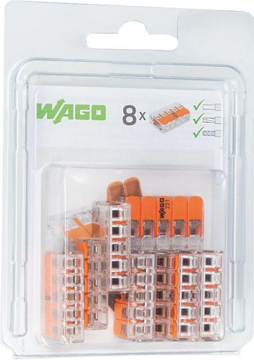 Rasialiitin Wago 221 5-napainen 8 kpl