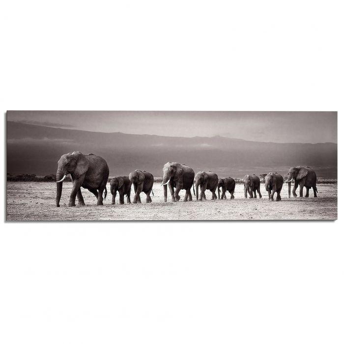 Sisustustaulu Reinders Line Of Elephants 52x156 cm