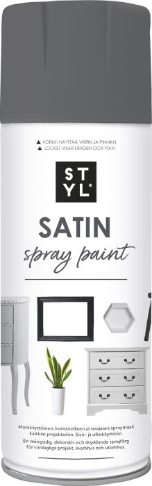 Pintamaali STYL Satin Dark Grey 400 ml
