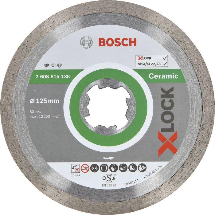 Timanttilaikka Bosch X-LOCK 125 mm STD Ceramic