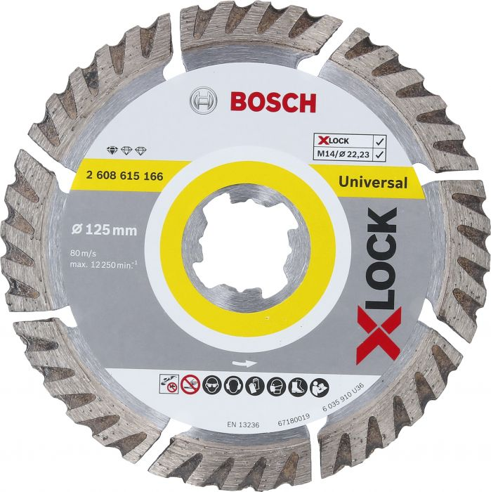 Timanttilaikka Bosch X-LOCK STD Universal 125 mm