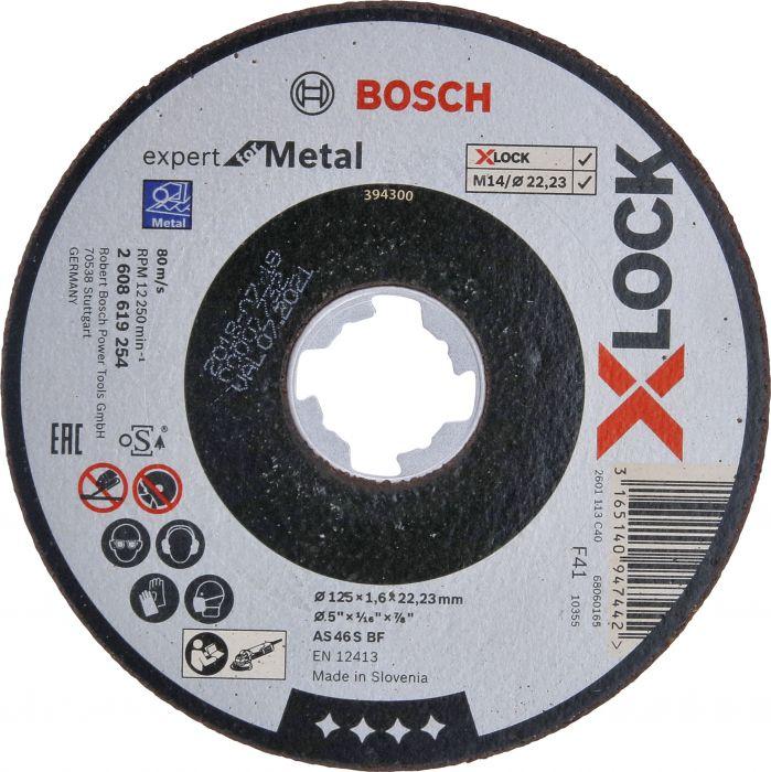 Katkaisulaikka Bosch X-LOCK Expert for Metal 125 mm 1,6 mm