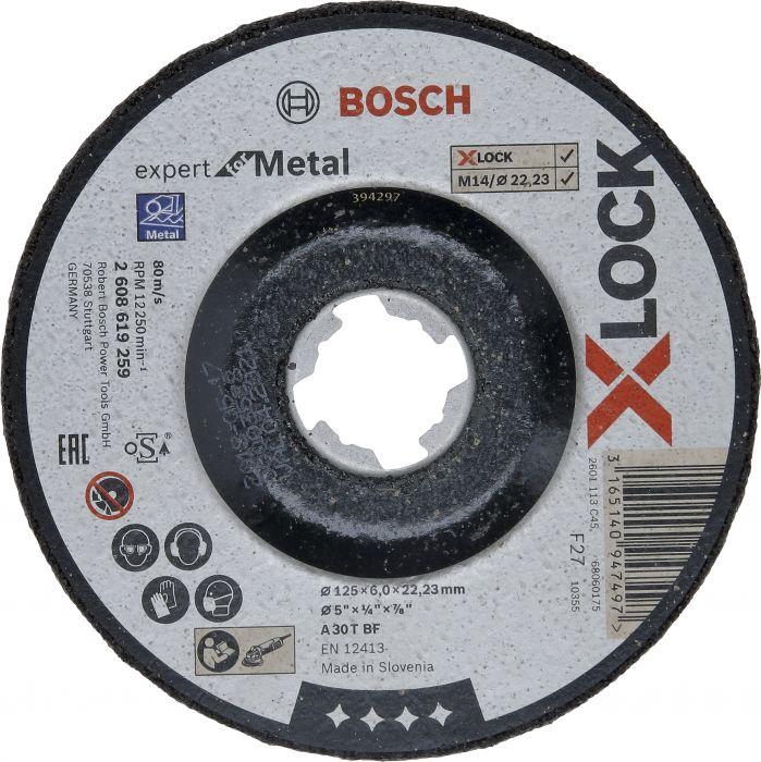Hiomalaikka Bosch X-LOCK Expert for Metal 125 mm 6 mm