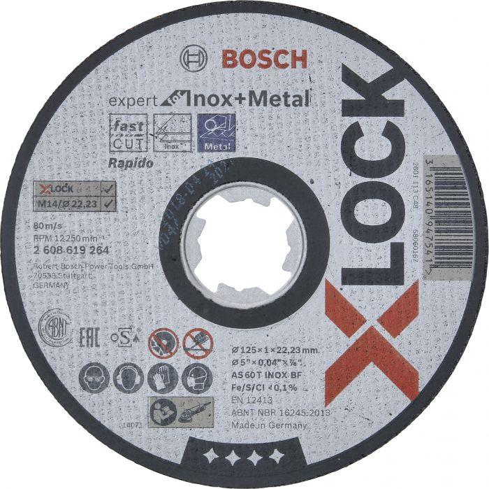 Katkaisulaikka Bosch X-LOCK Expert for Inox 125 mm