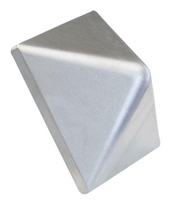 Tolpanhattu alumiini korkea 78 x 78 mm