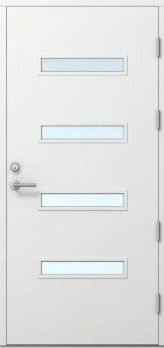 Ulko-ovi Kaskipuu FE3 Thermo Valkoinen 10 x 21