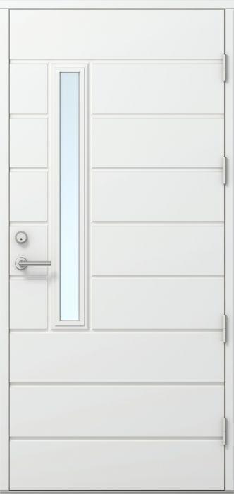 Ulko-ovi Kaskipuu FE811 Thermo Valkoinen 10 x 21