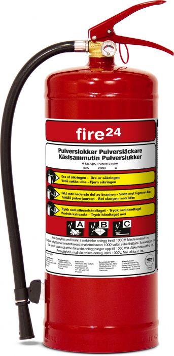 Jauhesammutin FIRE24 PE6XSF 6KG