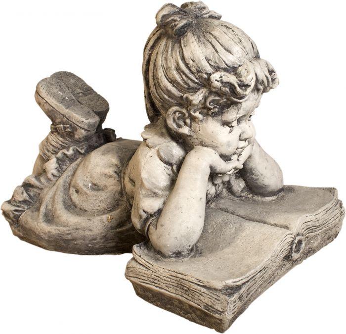 Puutarhakoriste tyttö kirjan kanssa 40 cm