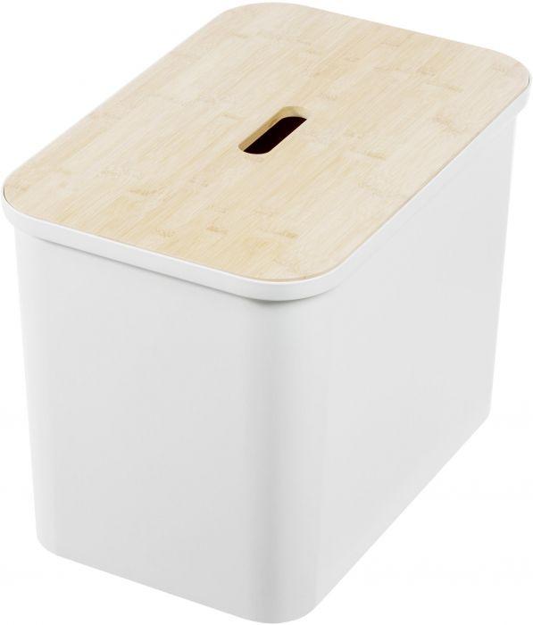 Lajitteluastia Smartstore Collect 76 L valkoinen + bambukansi