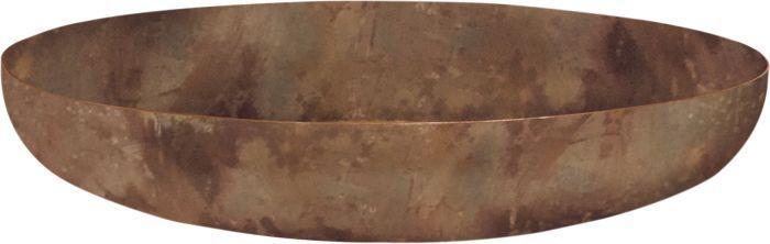 Peiliallas pyöreä 80 x 17 cm ruoste