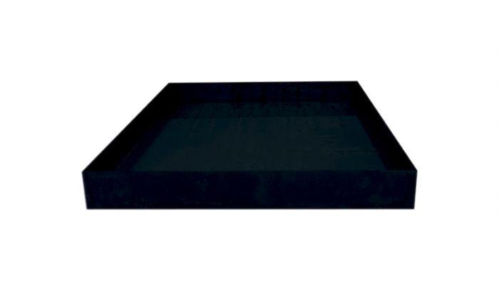 Peiliallas neliö 78 x 78 x 10 cm musta