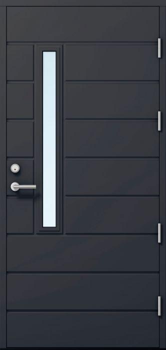 Ulko-ovi Kaskipuu FE811 Thermo Tummanharmaa 10 x 21 Oikea