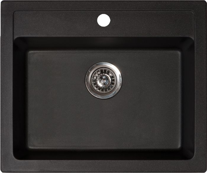 Keittiöallas Aqualine 60 x 50 cm Musta