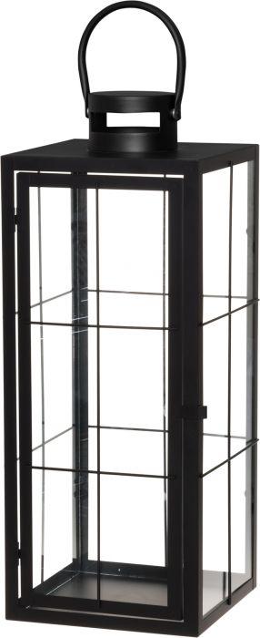 Lyhty Kiiruna musta 21,5 x 22,5 x 53 cm