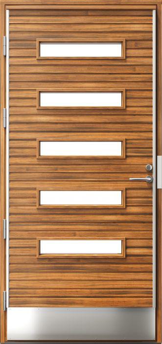 Ulko-ovi Kaski Puudesign Kero Pähkinä 10 x 21 Vasen