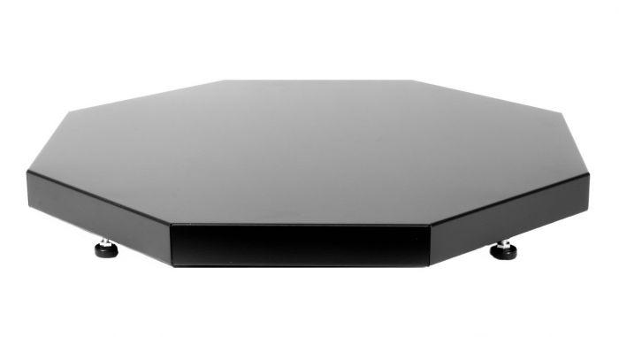 Asennusalusta Narvi 8-kulmainen Musta 60 x 60 cm