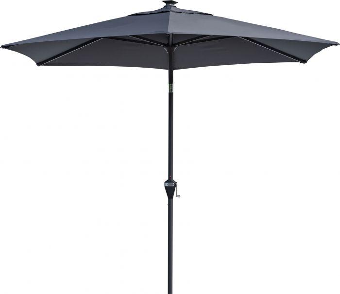 Aurinkovarjo Doppler Active LED 300 cm antrasiitti
