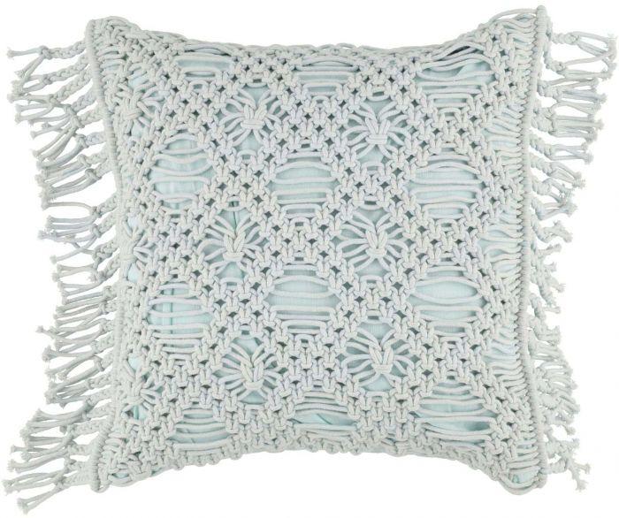 Tyyny FanniK Macrame 45 x 45 cm Vaaleansininen