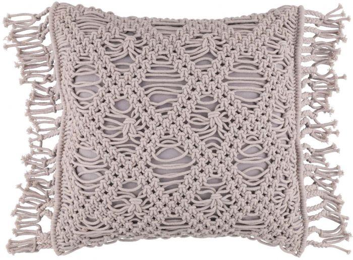 Tyyny FanniK Macrame 45 x 45 cm Harmaa