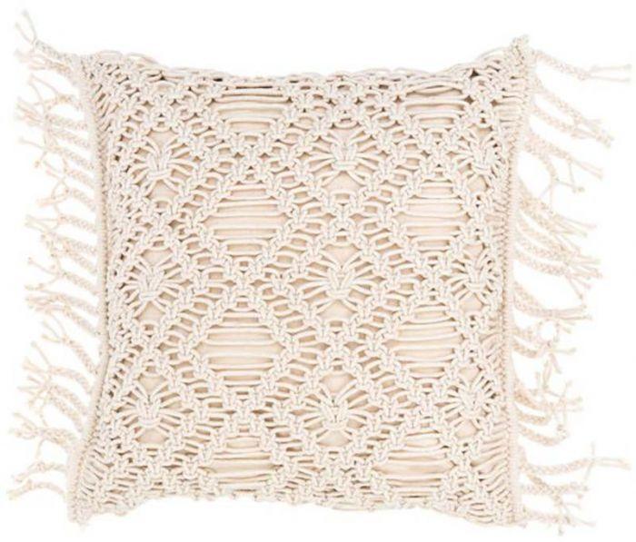 Tyyny FanniK Macrame 45 x 45 cm Valkoinen