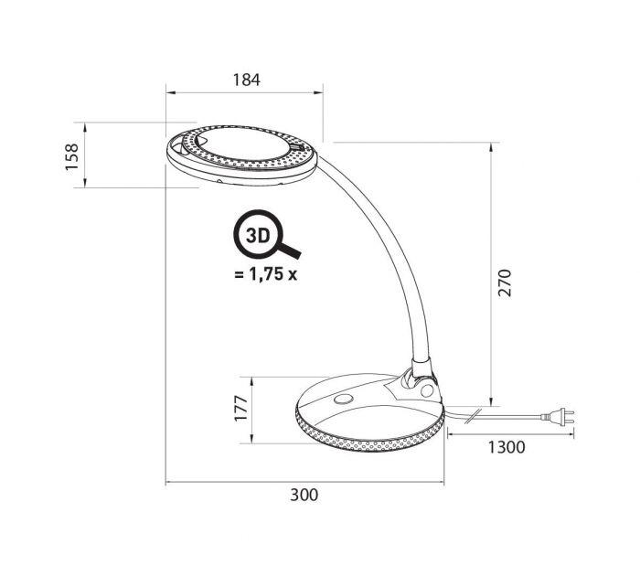 Pöytävalaisin Airam Loop Swan 3D LED