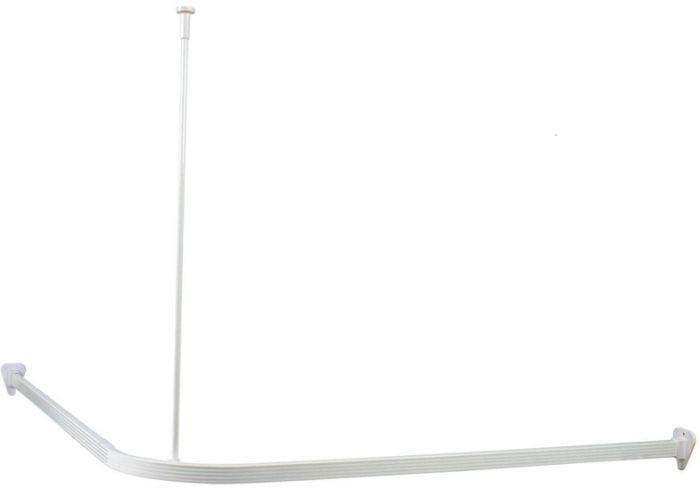 Kulmasuihkuverhotanko Tammiholma Valkoinen 90 x 90 cm