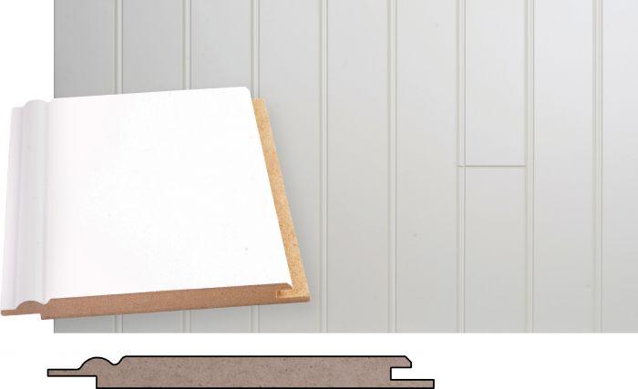Kattopaneeli Maler MDF Helmi Valkoinen 10 x 120 x 2070 mm