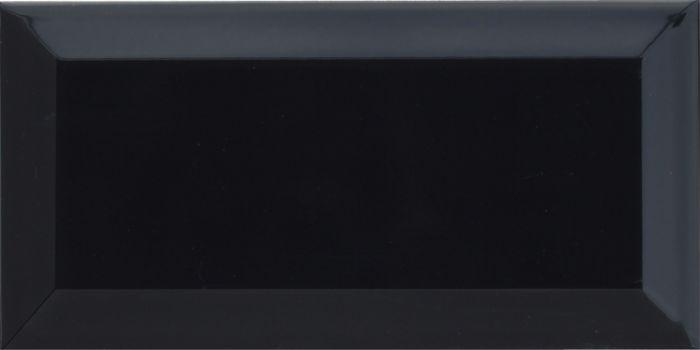 Seinälaatta Metro 10 x 20 cm Musta