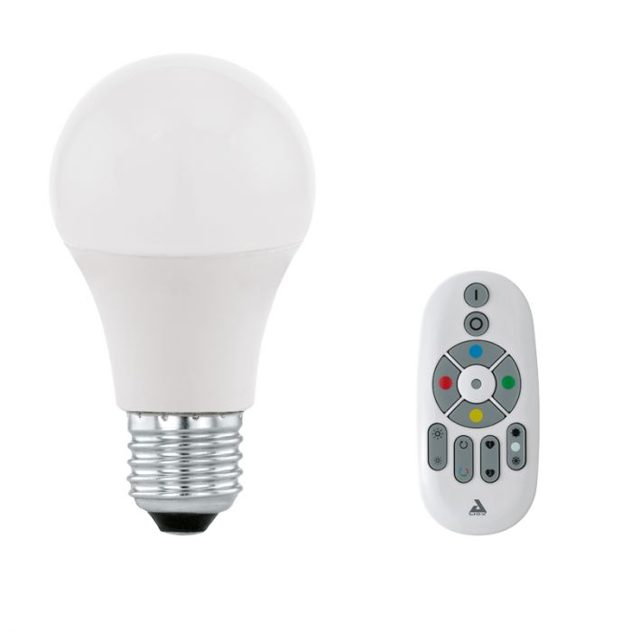Setti LED-lamppu Eglo Connect 9 W E27 + Kaukosäädin Eglo Connect