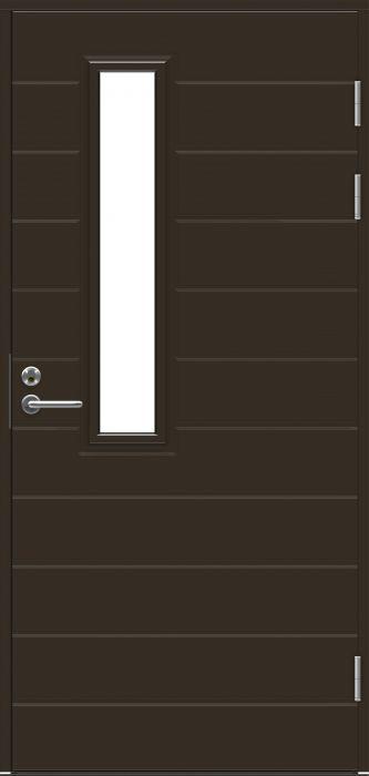 Ulko-ovi Jeld-Wen Function F1893 W22 Tummanruskea