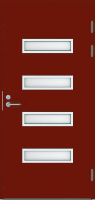 Ulko-ovi Swedoor Function F2090 W53 Tiilenpunainen