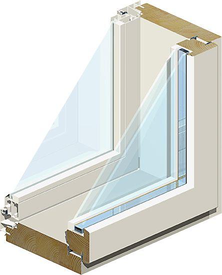 Ikkuna MSEA 131 12 x 6 Valkoinen