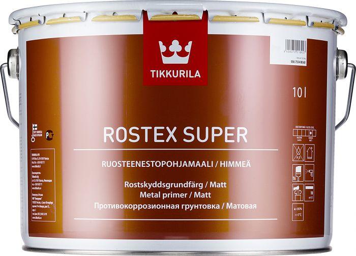Ruosteenestopohjamaali Tikkurila Rostex Super Rautaoksidin Punainen