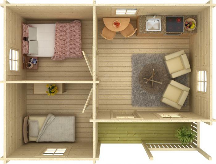 Huvila Palmako Sandra 21,5 m²