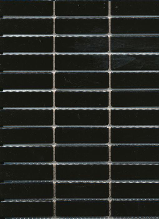 Mosaiikki Stick Musta Kiiltävä
