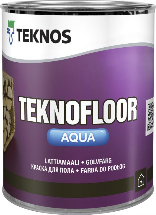 Lattiamaali Teknos Teknofloor Aqua Valkoinen