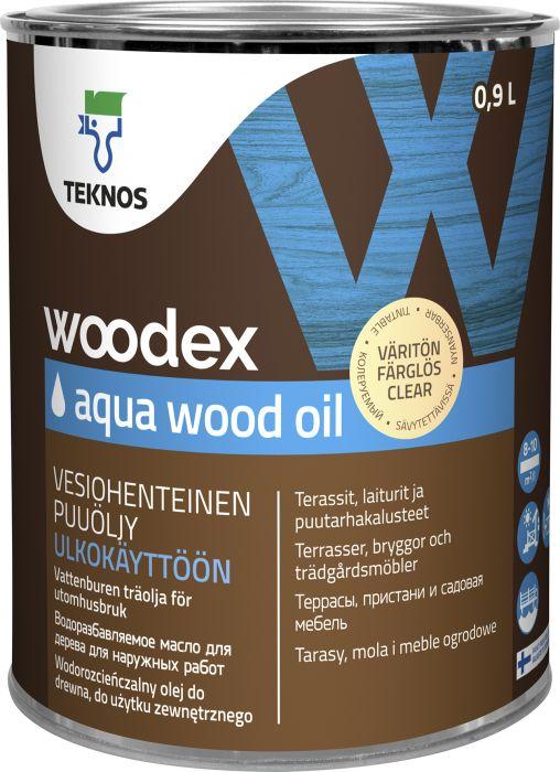 Puuöljy Teknos Woodex Aqua Wood Oil Väritön